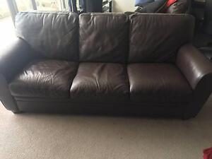 2 and 3 seater Leather Sofa's Waverton North Sydney Area Preview