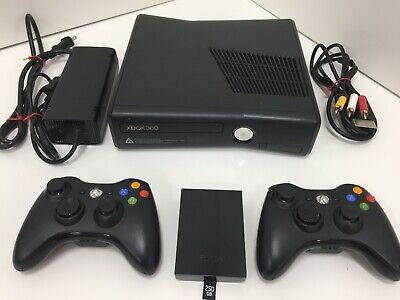 Microsoft Xbox 360 S (Slim, 1439) w/ 250GB Hard Drive AND 2 Original Controllers