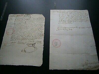 2 documents anciens: 1554/1771 généralité paris  castet