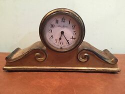 Antique Brass New Haven Desk Clock c. 1915