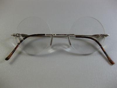 RIMLESS ROUND Small Steve Jobs Inspired GOLD Reading Glasses Flex Temples +2.00](Steve Jobs Glasses)