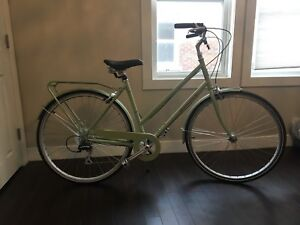 SIMCOE  bicycle mint green 8 speed step-thru cruiser