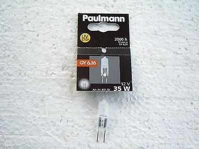 4 ST PAULMANN HALOGEN STIFTSOCKEL GY6 35 MATT 831 32 35 WATT 12 V