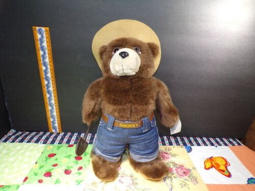 """Talking Smokey The Bear Vtg. 1994 Forest Service Fire Prevention Plush 12"""" Tags"""