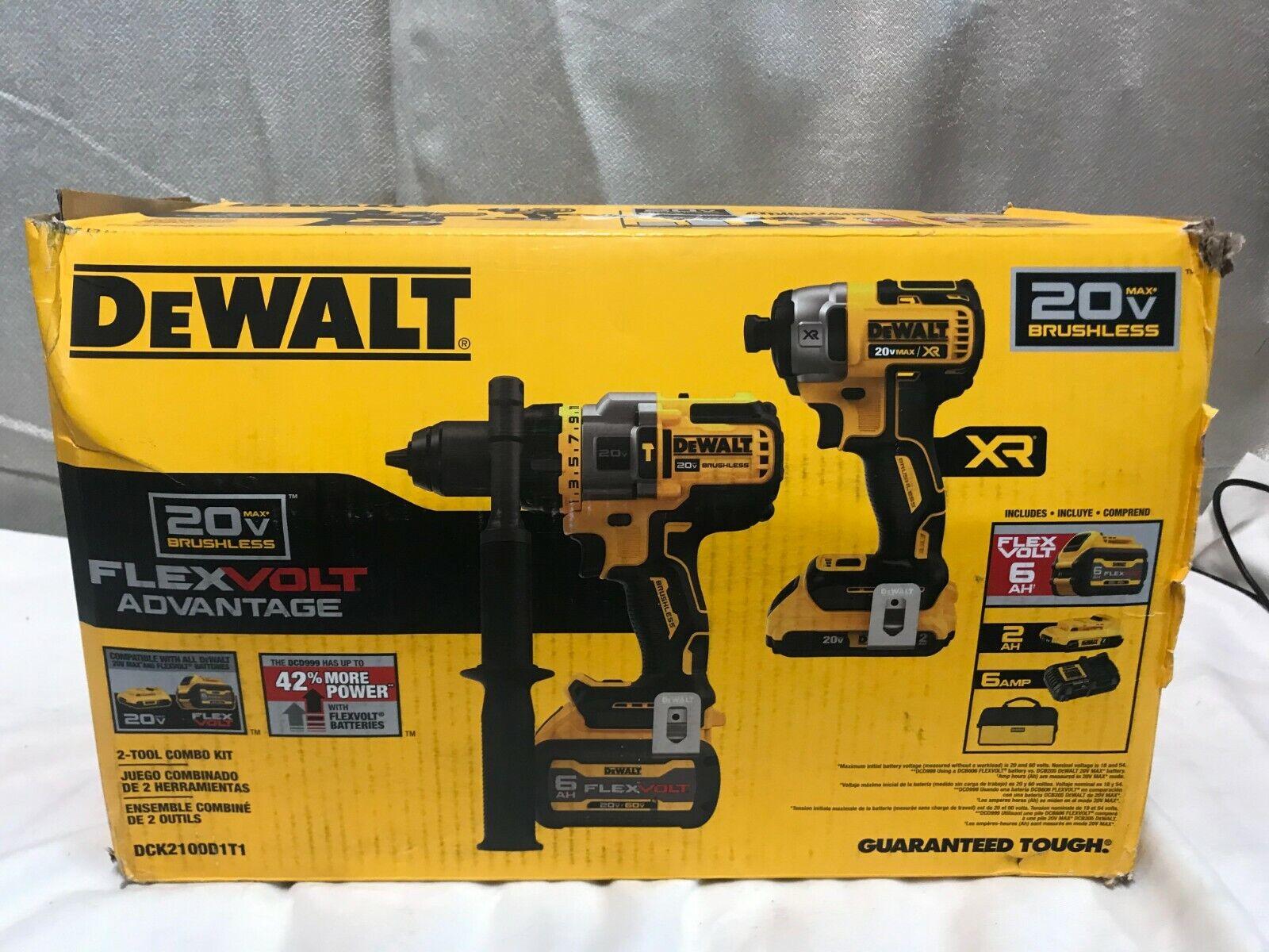 NEW! DeWalt DCK2100D1T1 20V MAX XR Impact Driver/Hammer Dril