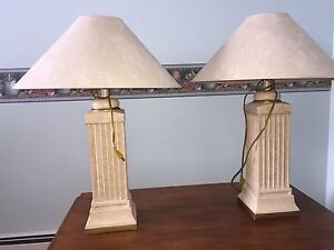 Two beautiful quality table lamps