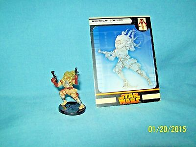 WotC Star Wars Miniatures Nautolan Soldier, RotS 49/60, Fringe, Common