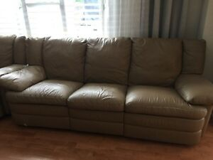 Original Natuzzi Genuine Leather Reclining Sofas for Sale