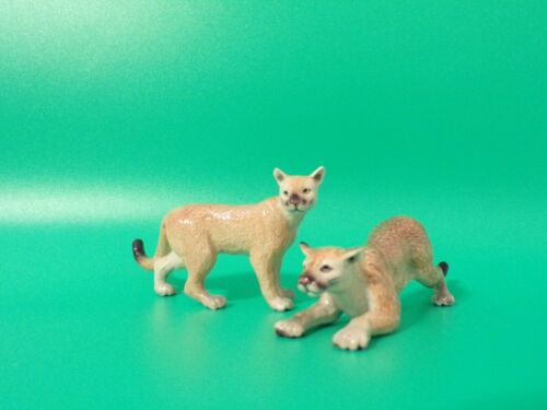 Northern Rose MOUNTAIN LION PAIR Porcelain Figurines