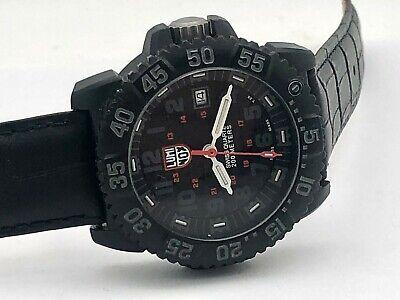Luminox 3050 / 3950 Navy Seal Black Dial 200M Divers Date 44mm Rotating Dial
