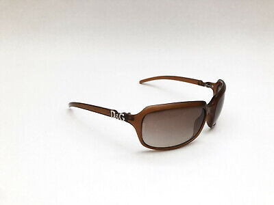 Vintage Dolce and Gabbana D&G 2192 62mm brown/brown wrap sunglasses ITALY MADE
