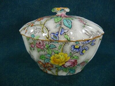 Copeland Spode Patricia Large Covered Sugar Bowl with Lid
