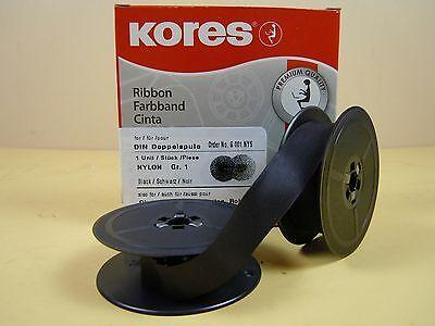 Farbband schwarz, Gr. 1, 13 mm, für fast alle älteren Schreibmaschinen