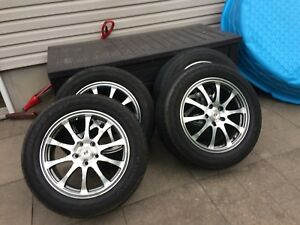 4 summer tires with mag 225/60/17 (5x114.3)