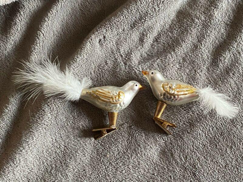 Bird Ornament Glass