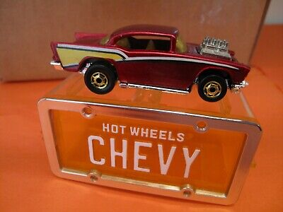 1988 Hot Wheels * Park 'N Plates car :** '57 CHEVY ** loose w/garage