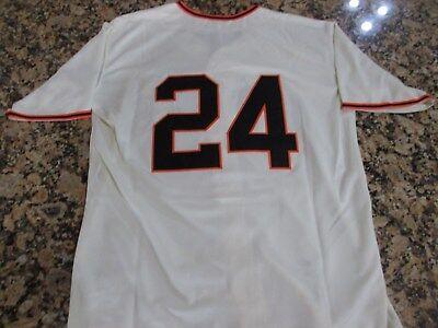 New! Retro San Francisco Giants WILLIE MAYS Cream Vintage Baseball Jersey Medium