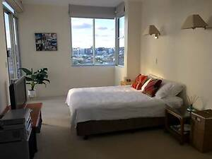 Penthouse master bedroom w private balcony w Story Bridge view! New Farm Brisbane North East Preview