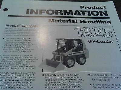 Case Skid Steer Sales Brochure Original 1825 Tractor Uni Loader