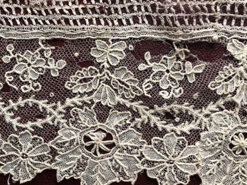 19th C. Point de gaze needle lace study piece COLLECTOR