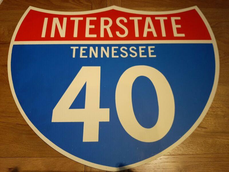 Vintage American Road Street Sign Tennessee Mancave Bar Interstate Pub