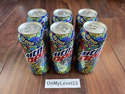 Mountain Dew Limited Edition Cake Smash Cans 6 Pack