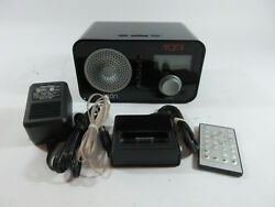 Eton Sound 100 AM/FM Digital Alarm Clock Radio Black Retro w/ Ipod Dock Remote