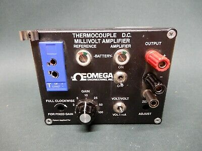 Omega Type T Thermocouple Dc Milivolt Amplifier - New Batteries Used Untested