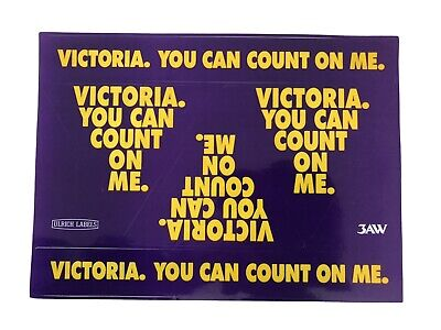 Victoria You Can Count On Me 3AW Sticker Sheet Vintage Ulrich Labels