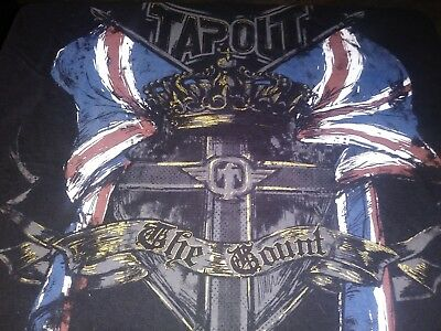 Michael Bisping Very Rare Tapout Shirt XLARGE size signature series