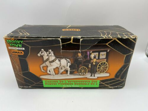 Lemax Spooky Town Undertakers Carriage Retired Halloween No Director Piece