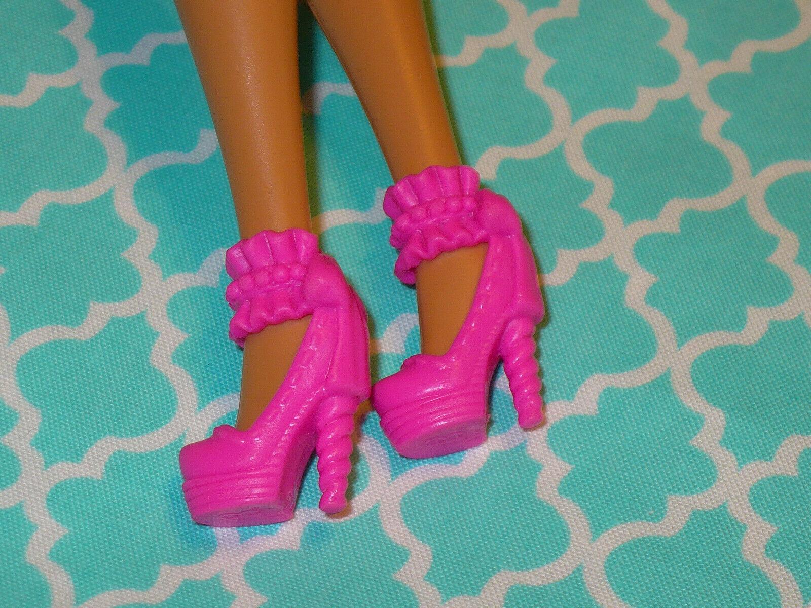 Mattel Barbie Doll Shoes FASHIONISTAS FASHION FEVER PINK FANCY HIGH HEELS - $10.39