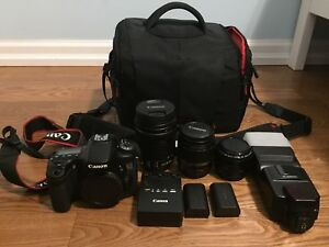 Canon 70D with Lens and Accessories