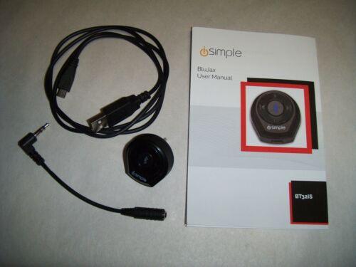 iSimple ISBT32 BluJax 3.5mm Auxiliary Input Bluetooth Adapter, Black