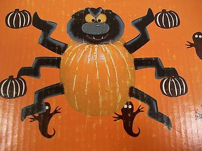 Halloween Pumpkin SCARY SPIDER Decorating Kit - 7 PIECES - NO CARVING!  NIB!