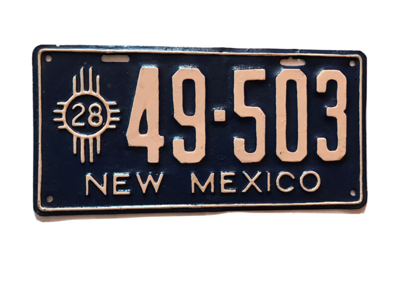 1928 REPAINT NEW MEXICO license plate