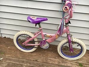 "Girls princess bike 14"" wheels"