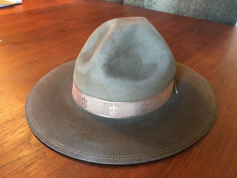 Vintage Boy Scouts Stetson Hat With Original Box and Tag 1946 Extremely Rare