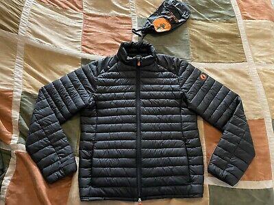 Save The Duck black ultra light giga down puffer jacket coat M mens NEW