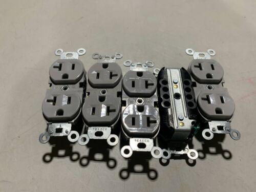 5x Legrand Gray Duplex Receptacles 20A 125V, NOS