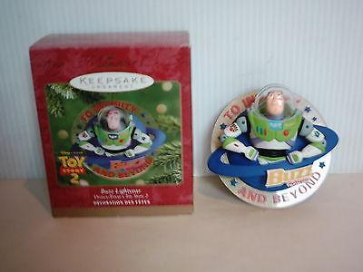 Toy Story 2 Buzz Lightyear Hallmark Christmas Ornament NIB 2000 Rare