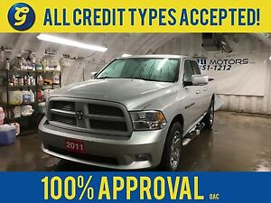 2011 Ram 1500 SPORT*4WD*QUADCAB*HEMI*NAVIGATION*LEATHER SEATS*U