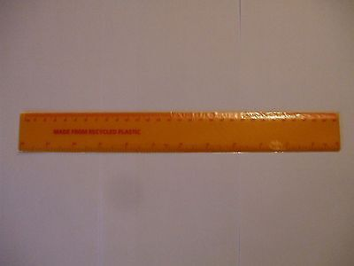 12INCH/30 CMS RULERS TOP QUALITY  10 YELLOW RULERS