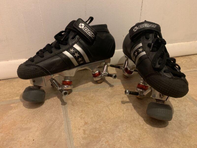 Bont QuadStar Roller Skates with Pilot Falcon Plates, Bionic Toe Stops size 37