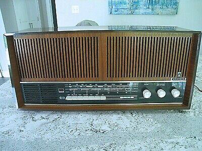 Vintage Working Grundig Shortwave Radio Tube Model 4670 U AM FM Wood Germany.