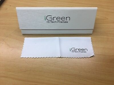 Brand New iGreen White Eyeglasses Case With Cleaning Cloth