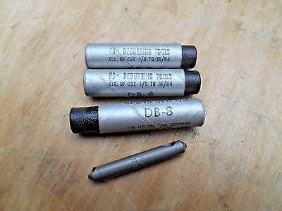 Weldon Db-8 Deburring Tool Hss 90 Degree Lot Of 3