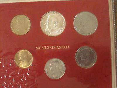 Vatican City 1979 KM#MS84 Pope John Paul II Mint Set 10 20 50 100 200 500 Lire.