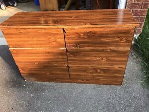 WOOD STYLED 6 DRAWER DRESSER
