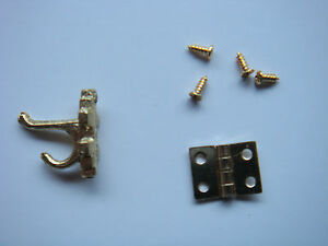 12th-Scale-Dolls-House-DIY-Hinges-4-6-8-for-Furniture-3-Coat-Hooks-CHOOSE